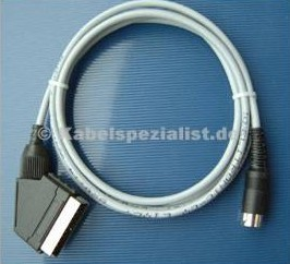 Commodore C64 / VC20 / C16 Kabel TV SCART (FBAS)