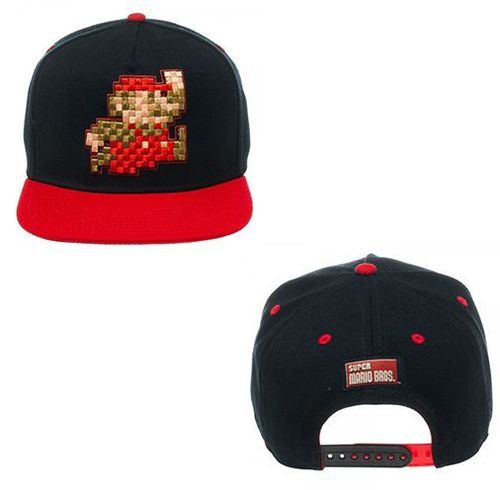 Novelty - Hats - Nintendo - Pixel Mario Red Snapback